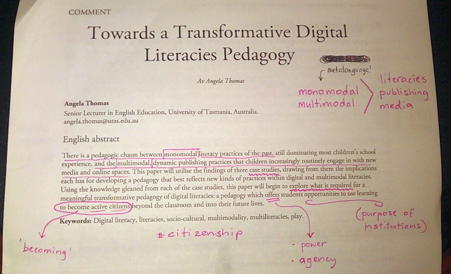 thesis paper on pedagogy