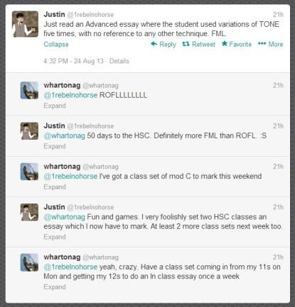 twitter convo 24.08.2013 HSC marking