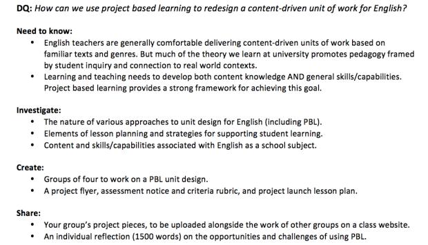 Draft: Program/Assignment Outline for Semester 2